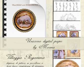VILLAGGIO PERGAMENA, China, Porcelain painting, patterns, drawings, decoration.