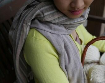 Frühling Baumwolle handgewebter natürliche gefärbten Schal #5