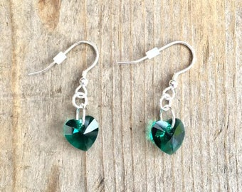Emerald Swarovski Earrings