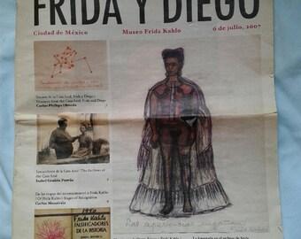 Frida Kahlo Newspaper/Pamphlet from Casa Azul 2007 - Frida Y Diego