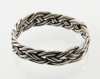 Sterling Silver Hand Woven Ring  - Any Size