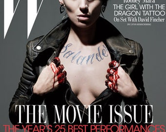 Worn By Rooney Mara, Silver Tipped Tribal Curls, Girl with the Dragon Tattoo, Fake Gauge Earrings, Organic Horn, Split, Cheaters - H7