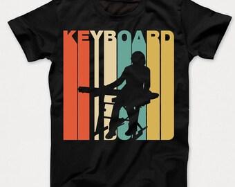 Retro 1970's Style Keyboard Keyboardist Musician Kids T-Shirt