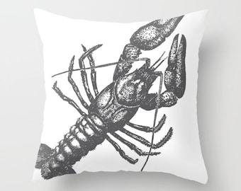 Lobster Pillow  - Lobster Throw Pillow  - Nautical Pillow  - Nautical Decor - Summer Decor - By Aldari Home