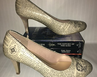 Tolkien Book High Heel Shoes