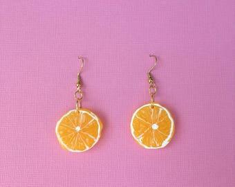 Fruit Slice Earrings (more colours)