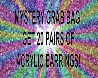 MYSTERY Grab Bag of Acrylic Earrings