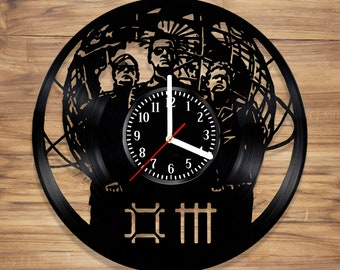 Depeche Mode Vinyl Wall Clock Legend Music Electronic Band Perfect Art Decorate Home Style UNIQUE GIFT idea for Him Her (12 inches)