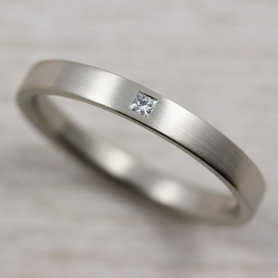 New Flush Set Square Conflict-free Diamond Women's Wedding XP53