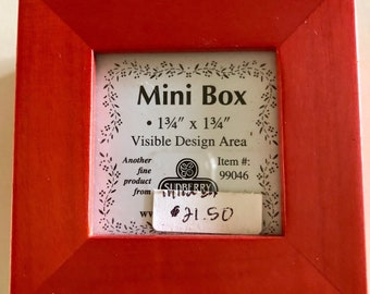 Red Display Box for Needlecrafts