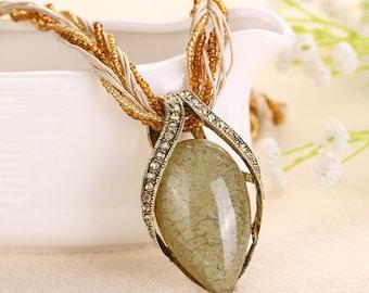 Chinese Style Gemstone Necklace