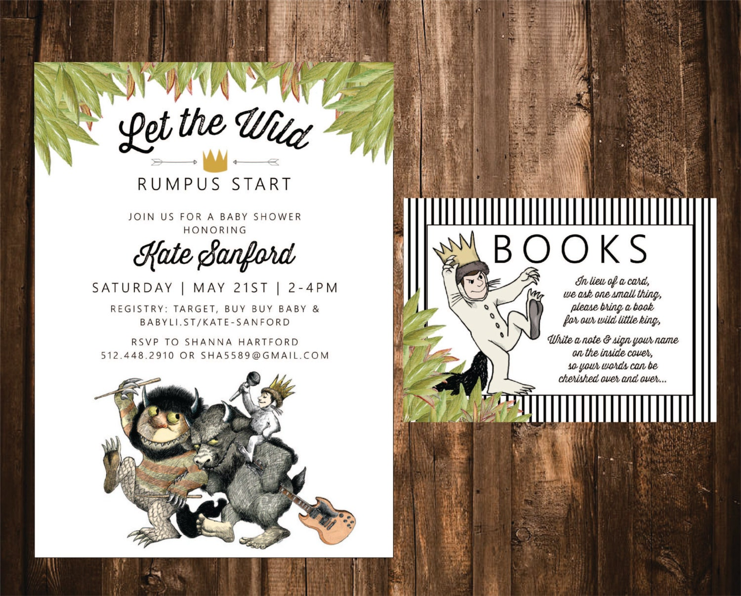Where The Wild Things Are Invitation Where The Wild Things