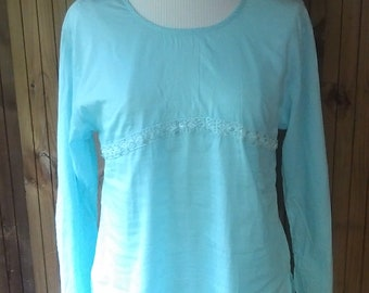 Romantic tunic, tunic boho tunic thin and delicate application lace, beads and sequins