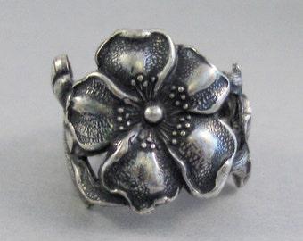 Cherry Blossom,Ring,Silver,Flower,Cherry Blossom Ring,Antique Ring,Silver Ring,Blossom,Wedding,Bridesmaid.Flower Ring,valleygirldesigns.