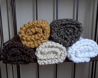 Newborn Photo Prop Blanket Newborn Baby Photography Prop Hand Crochet Blankets 18''x18''   pick your color