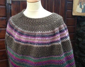 Wool/Alpaca poncho