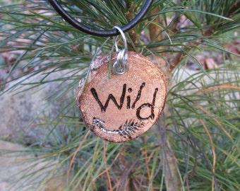 Wild Necklace, Stay Wild Jewelry, Wild, Wild Jewelry, Rustic Necklace, Wood Slice Necklace, Wooden Necklace, Boho Necklace, Arrow Necklace