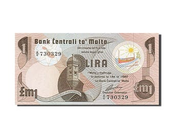 malta 1 lira 1967 km #34b unc(65-70) a/6 730329