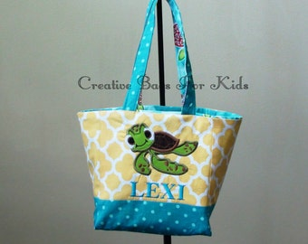 Nemo Tote Bag/ Squirt lunch bag/ Personalized Tote Bag/ Nemo Kids tote bag/ Toddler tote bag