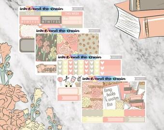 Books and Tea Mini Kit, Mini Kit, Sticker Kit, Traveler's Notebook Kit, Personal Planner Kit, MK012