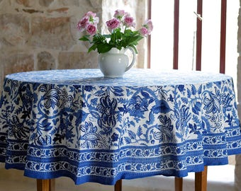 Round Tablecloth, Floral Tablecloth, Boho Tablecloth, Tablecloth,  Tablecloths, Table Cloth,