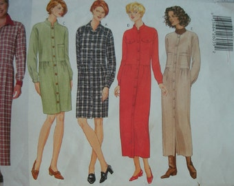 Misses Misses Petite Dress for Work or Casual Size 20-22-24 Butterick Classics Pattern 5143 Rated Easy to Sew UNCUT Pattern Dated 1997