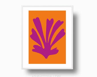 Matisse Palmette Print, Matisse Palm Cutout Printable Instant Download, Matisse Minimalist Contemporary Wall Art,