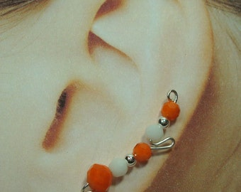 Climbing Earrings - Two-Toned Short Loop Style Custom Made