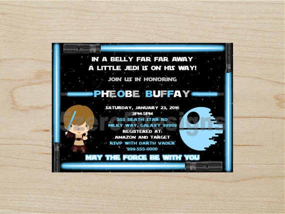 Lovely Star Wars Baby Shower Invitation, Jedi Baby Shower, Star Wars Invitation, Baby  Shower Invitation, Boy Baby Shower Invitation