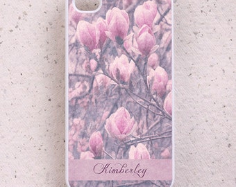 iPhone Cover(all models) - Pink Magnolia - smartphone - mobile - Samsung Galaxy S3 S4 S5 S6 & others - cover - monogram - personalised