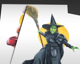 1939 The Wizard of Oz | Wicked Witch of the West Iconicharacter Art Print