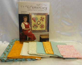 """It's """"El""""emntary Quilting Tips & Techniques by Eleanor Burns Quilt in a Day Kit"""