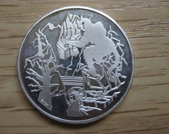 Coin 20 Franc Switzerland. Silver. Devil's Bridge. Vintage 1994