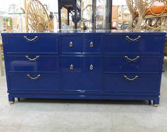 Newly Lacquered Grotto Blue R-Way Dresser