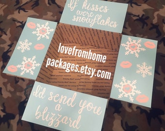 If Kisses Were Snowflakes Care Package Flaps