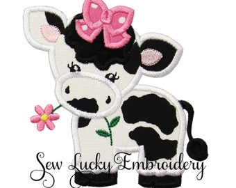 Cow patch  - Cow Iron on patch - Cow sew on patch  - Farm patch - Applique - Embroidered Patch - Iron on Patch - Sew On Patch