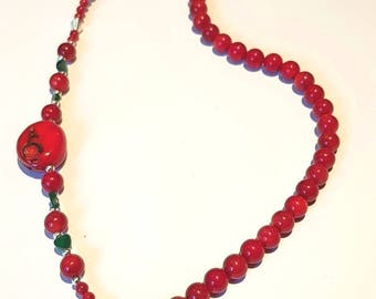 Red Coral Necklace, Mothers Day Gift, Handmade, Coral Necklace