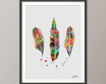 feather art, feather painting, feather watercolor, watercolor feather, watercolor, Feather poster, feather print, feather wall decor -A085-2
