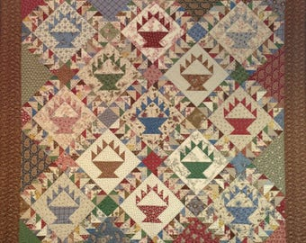 Flying Geese Baskets Quilt Pattern Digital Download
