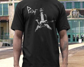 Paraf  T shirt screen print short sleeve     shirt cotton