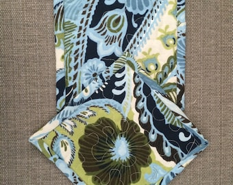 READY TO SHIP , Pot holders,Quilted Pot holders, Fabric Pot holders, Contemporary Potholders , 7 x 7 inch