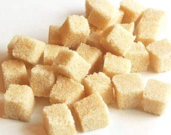Ginger Sugar Cubes for High Tea, Wedding Champagne Toast, Mad Hatter Tea Party, Colored Sugar, Favors, Coffee, Baby Shower, Favors