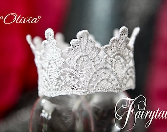 Princess or Prince various size height crown prop Baby adult teen Crown photo shoots, theatre, proms, prop Silver glimmer choose your size