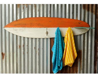 Surfboard Towel Hook Wooden Coastal Decor Beach Decor Surf Decor