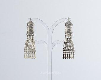 Silber Ohrringe mit ethnischen asiatischen