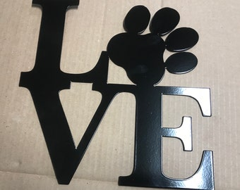Love Paw Metal sign animal dog