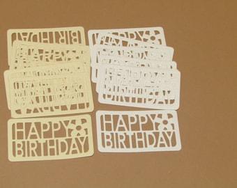Happy Birthday Sentiment Die-cuts x 15 - Papercraft, Cardmaking, Scrapbooking, Birthday
