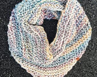 Bandana Scarf // Triangle Scarf // Chunky Knit // in Hudson Bay
