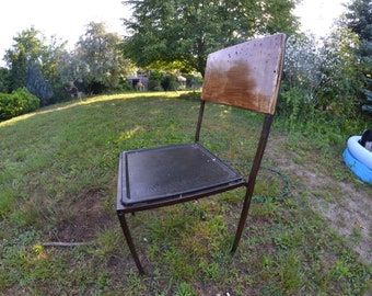 Rustic metal chair black