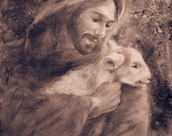 Lamb with Jesus in the Wind